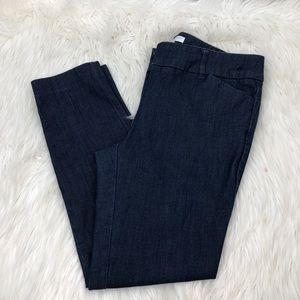 New York & Company Chambray Cropped pants sz 6